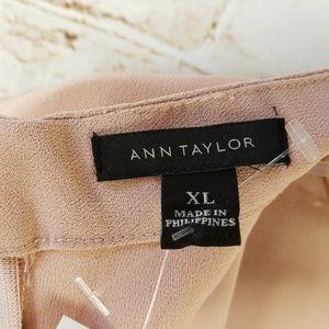Ann Taylor Tops - Ann Taylor XL Sleeveless Mock Neck Peplum Top NEW